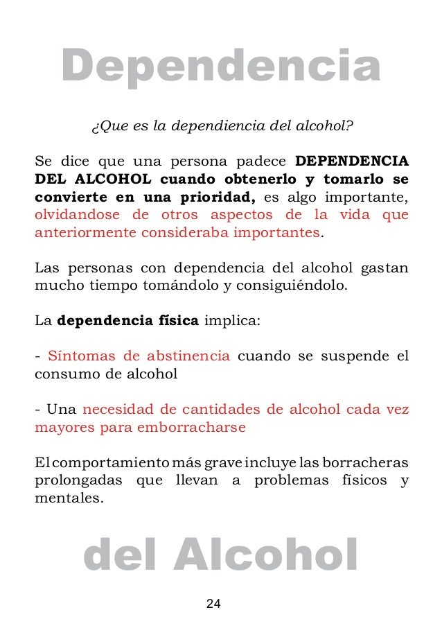 Los tests al alcoholismo