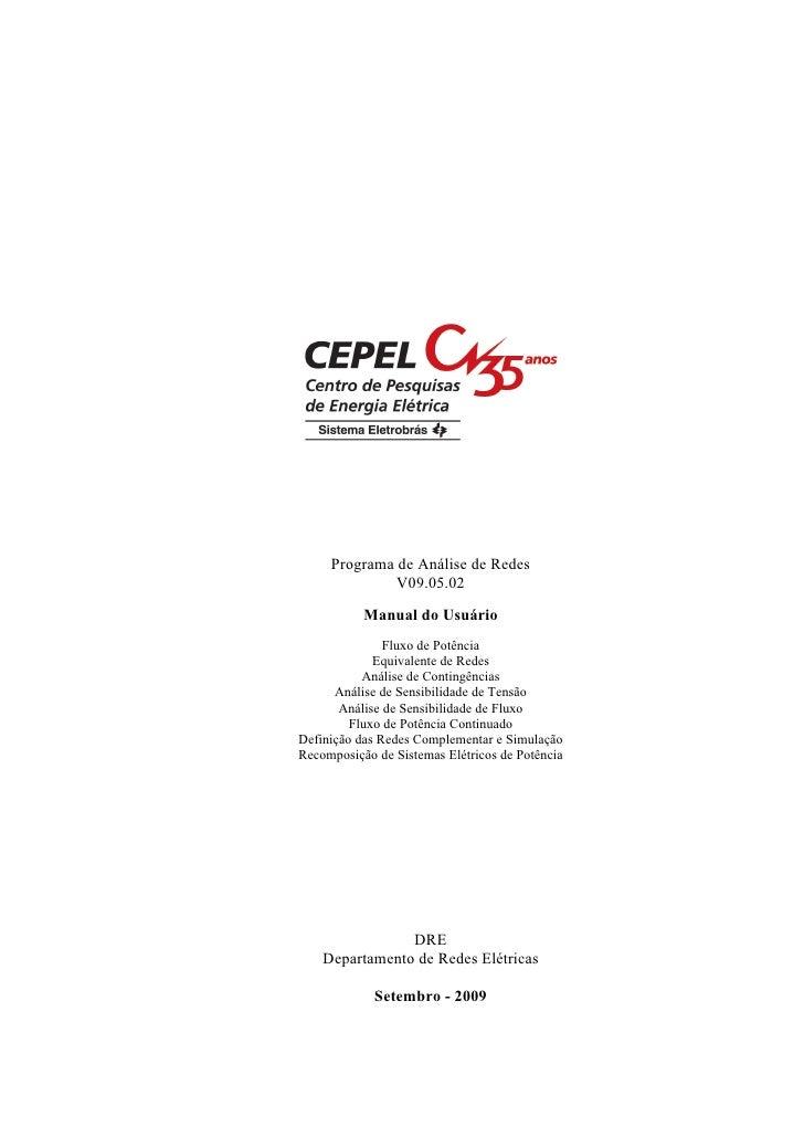 Programa de Análise de Redes              V09.05.02           Manual do Usuário               Fluxo de Potência           ...