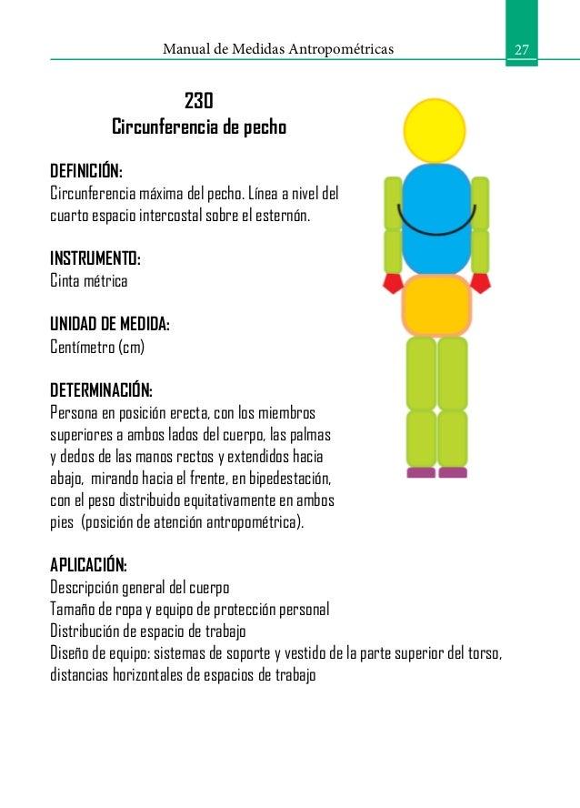 Manual antropometria for Medidas antropometricas del cuerpo humano