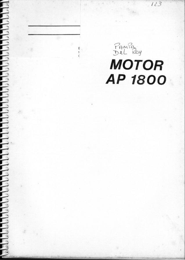 Manual Serviço Motor AP1800 ( Pampa e Del Rey )