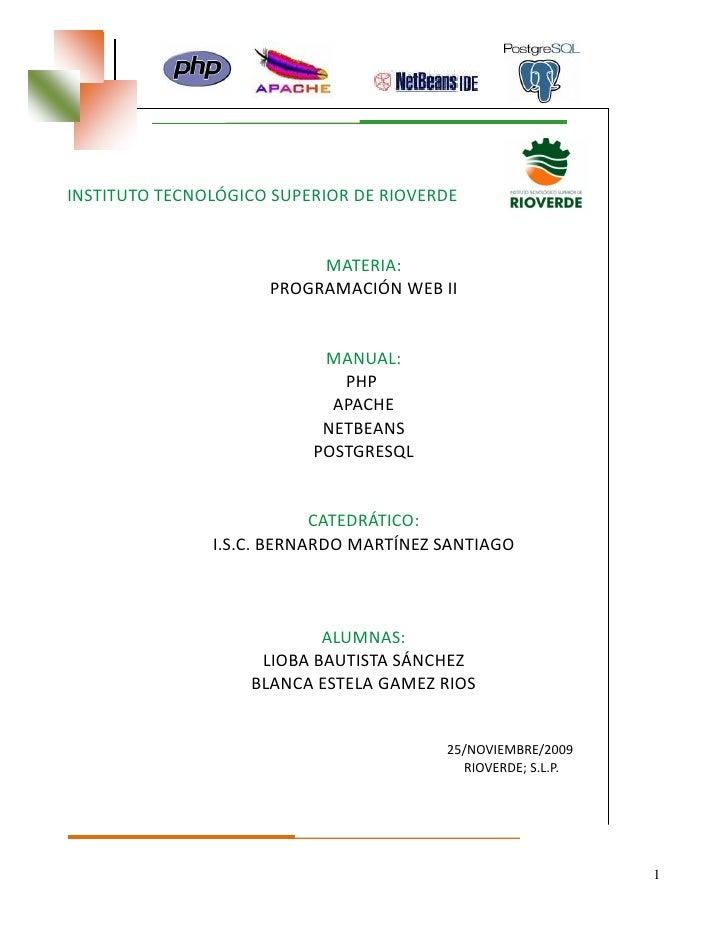 INSTITUTO TECNOLÓGICO SUPERIOR DE RIOVERDE                             MATERIA:                      PROGRAMACIÓN WEB II  ...