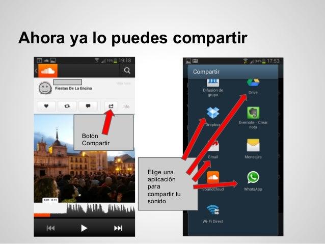 Ahora ya lo puedes compartir       Botón       Compartir                   Elige una                   aplicación         ...