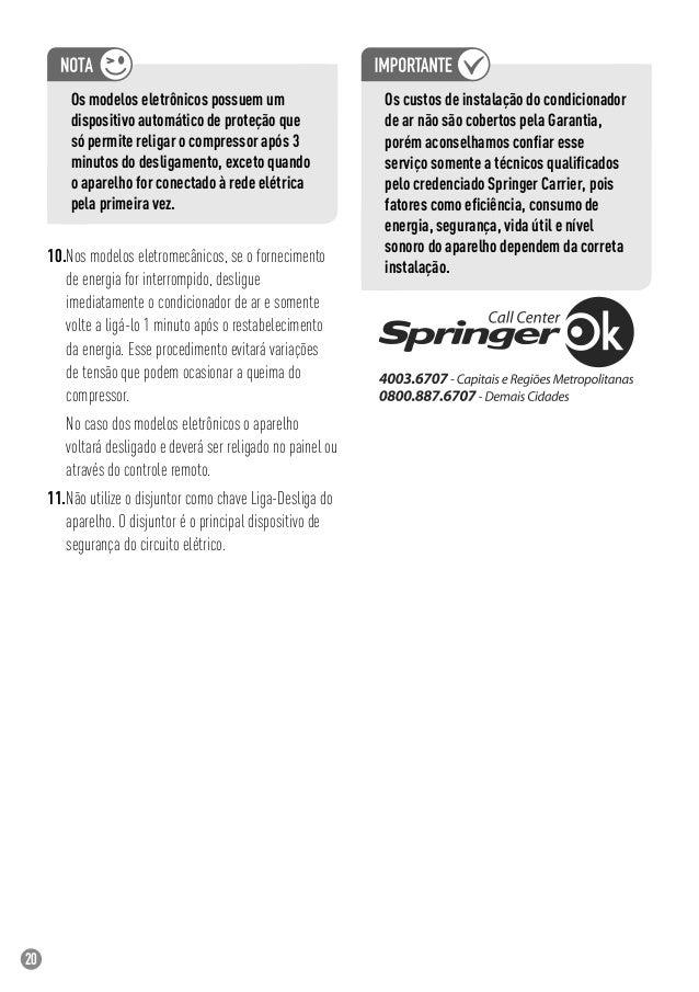 Manual Ar Condicionado Springer Duo