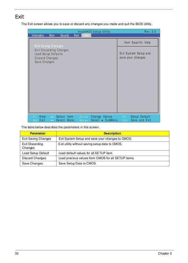 Insydeh20 Setup Utility Rev 3 5 Manual