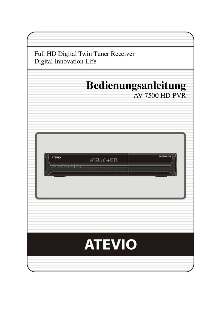 Full HD Digital Twin Tuner ReceiverDigital Innovation Life                  Bedienungsanleitung                           ...