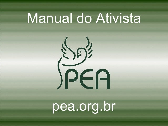 Manual do Ativista  pea.org.br