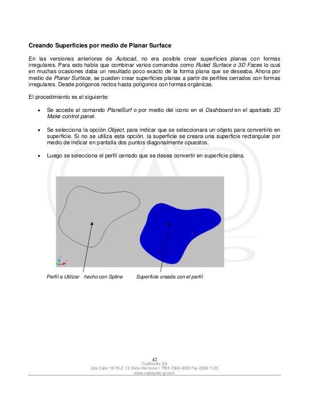 manual auto cad 2007 3d rh es slideshare net manual autocad 2007 pdf manual de autocad 2013