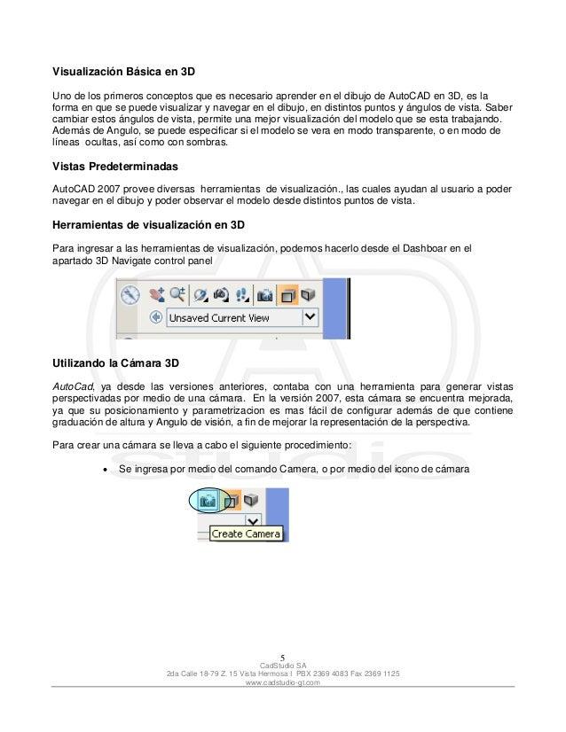 manual auto cad 2007 3d rh es slideshare net autocad 2007 manual book autocad 2010 manual free download