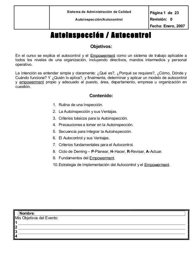 Manual autoinspeccion autocontrol
