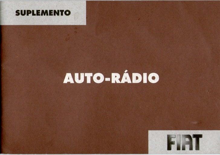 Manual auto radio fiat connect