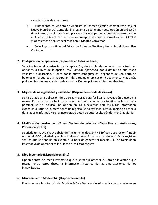 Novedades Contaplus 2012 Ceifor Estudios