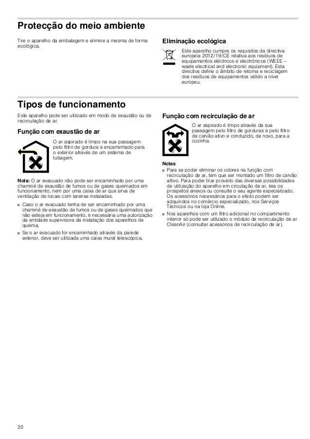 20 Protecção do meio ambiente Tire o aparelho da embalagem e elimine a mesma de forma ecológica. Eliminação ecológica Tipo...