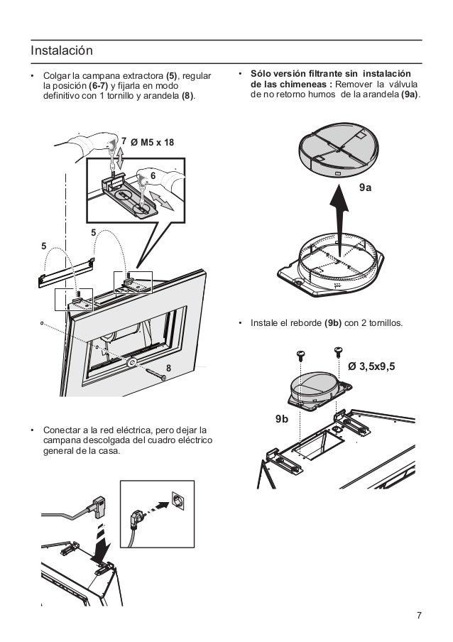 Manual balay campana 3bc8890g - Instalacion campana extractora ...