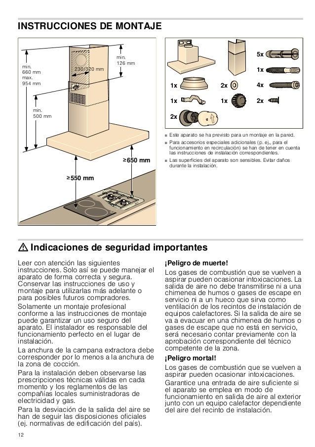 12 INSTRUCCIONES DE MONTAJE Manual de montaje ■ Este aparato se ha previsto para un montaje en la pared. ■ Para accesorios...