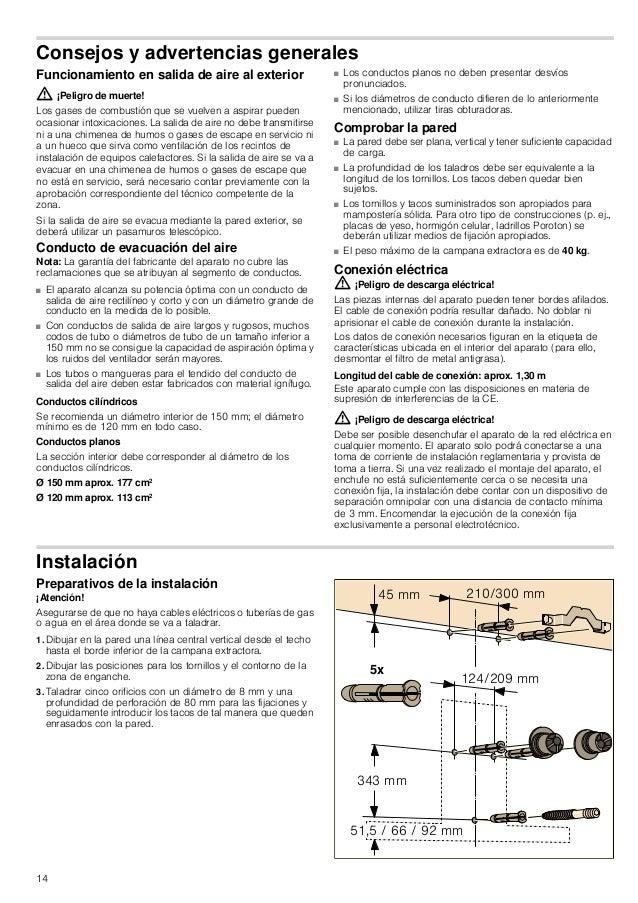 14 Consejos y advertencias generales Funcionamiento en salida de aire al exterior : ¡Peligro de muerte! Los gases de combu...