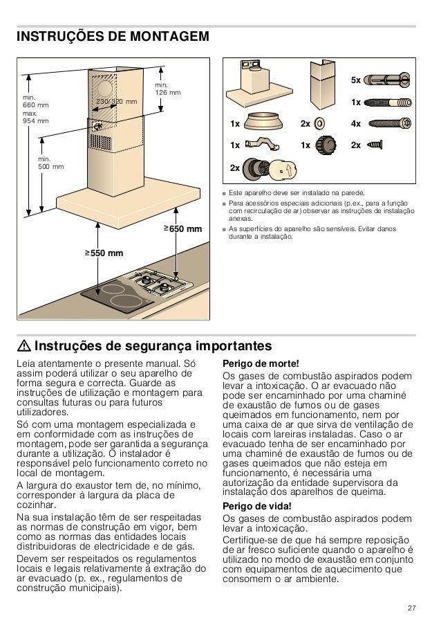 27 INSTRUÇÕES DE MONTAGEM Instruções de montagem ■ Este aparelho deve ser instalado na parede. ■ Para acessórios especiais...