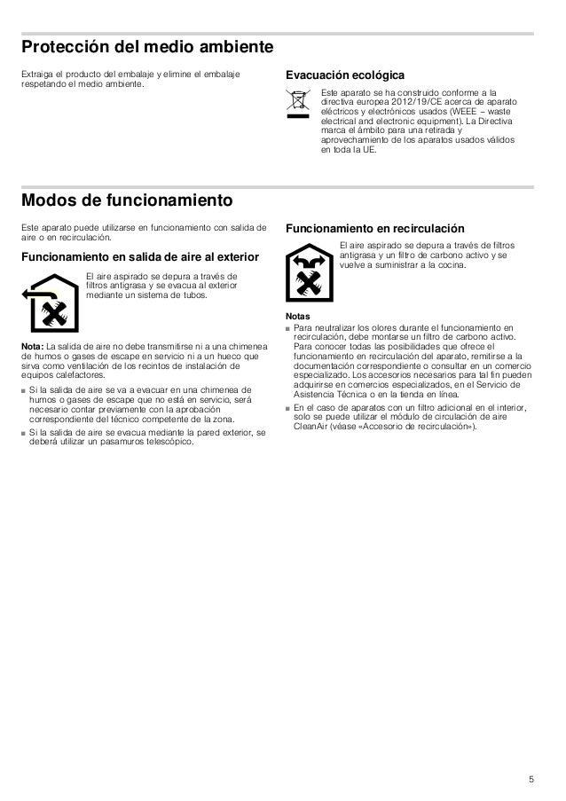 5 Protección del medio ambiente Extraiga el producto del embalaje y elimine el embalaje respetando el medio ambiente. Evac...