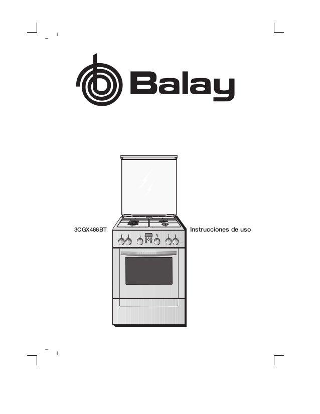 Manual balay cocina 3 cgx466bt for Manual de tecnicas de cocina