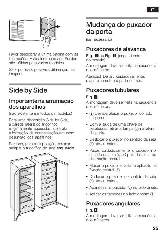 25 Favor desdobrar a última página com as ilustrações. Estas Instruções de Serviço são válidas para vários modelos. São, p...
