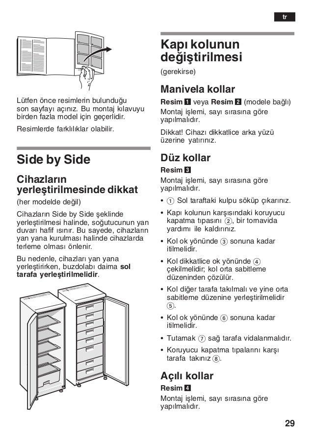 29 Lütfen önce resimlerin bulunduu son sayfayž açžnžz. Bu montaj kžlavuyu birden fazla model için geçerlidir. Resimlerde ...