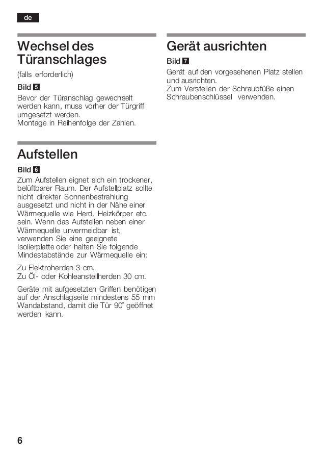 6 Wechsel des Türanschlages (falls erforderlich) Bild 5 Bevor der Türanschlag gewechselt werden kann, muss vorher der Türg...