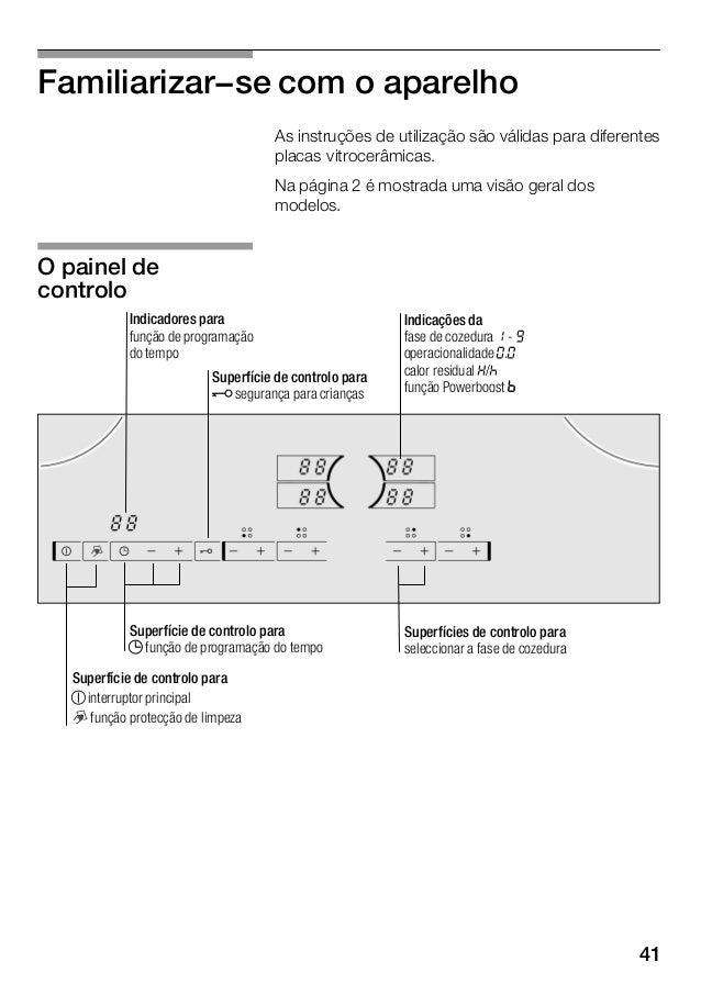 42 Zona de cozedura Activar e desactivar Ę Zona de cozedura simples Utilizar um recipiente com o tamanho adequado. m Zona ...