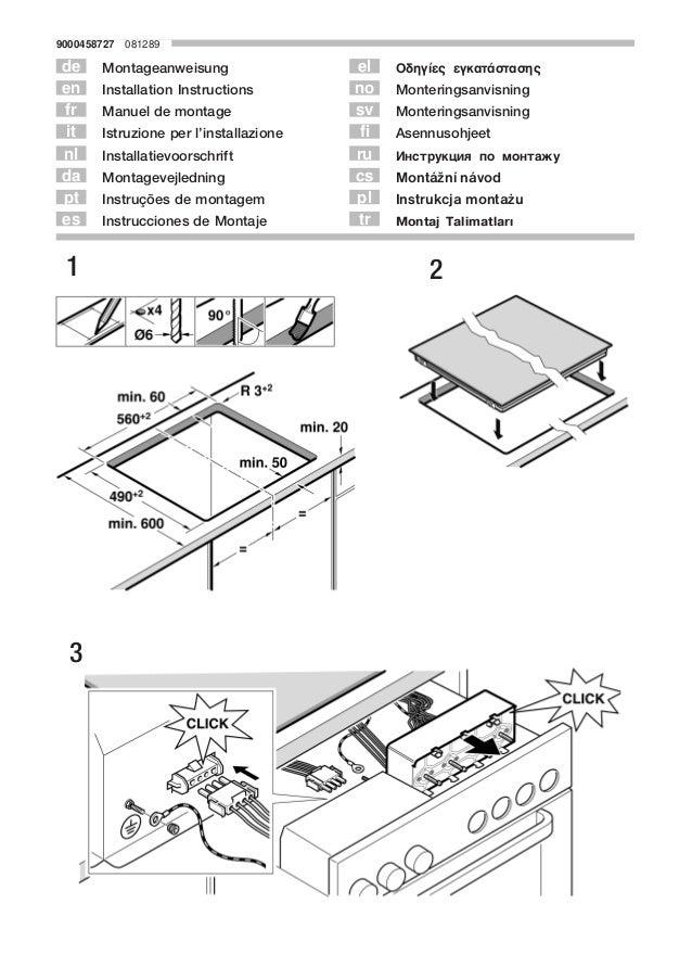 9000458727ą081289 Montageanweisung Installation Instructions Manuel de montage Istruzione per l'installazione Installatiev...