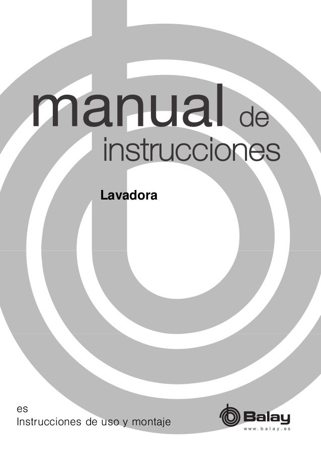Manual Balay Lavadora 3ti60101a