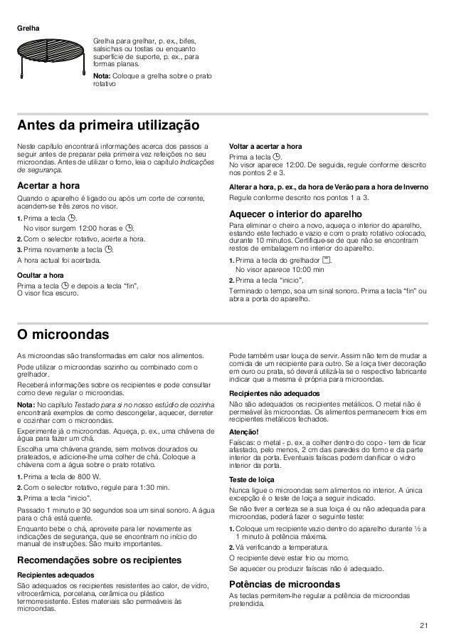 21 Grelha Antes da primeira utilização Neste capítulo encontrará informações acerca dos passos a seguir antes de preparar ...