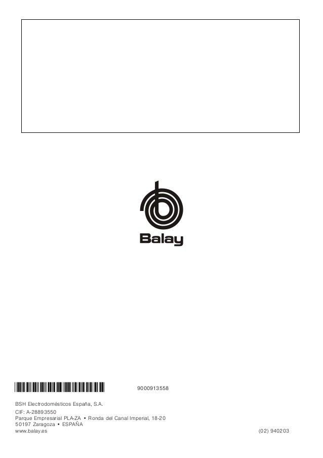 Manual balay   microondas 3wg365nic