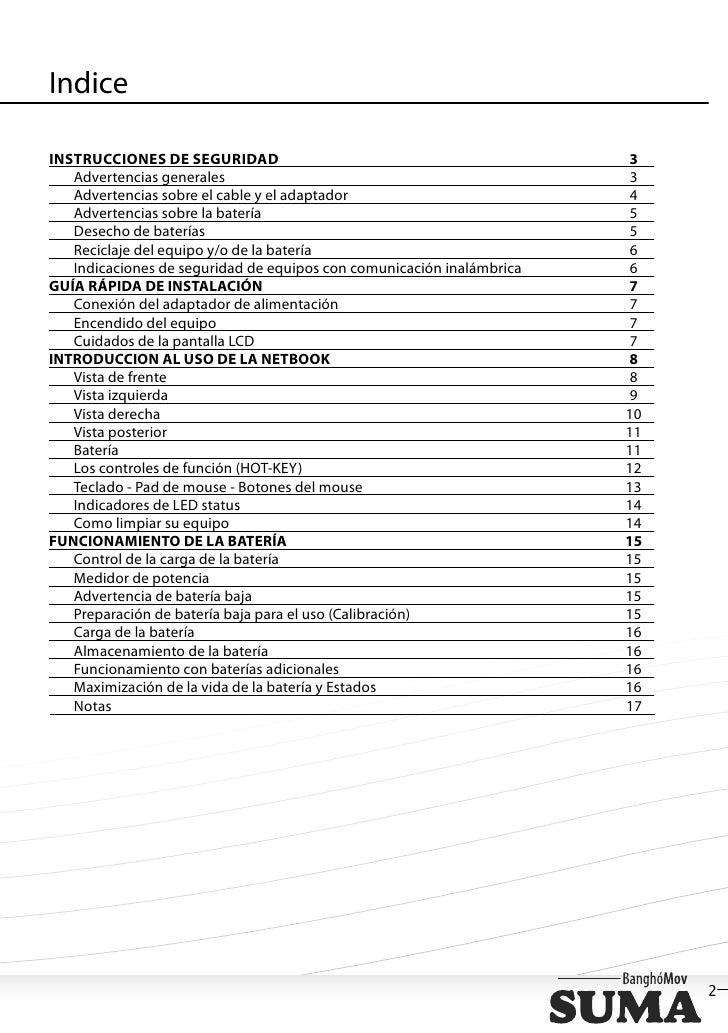 IndiceINSTRUCCIONES DE SEGURIDAD                                              3   Advertencias generales                  ...