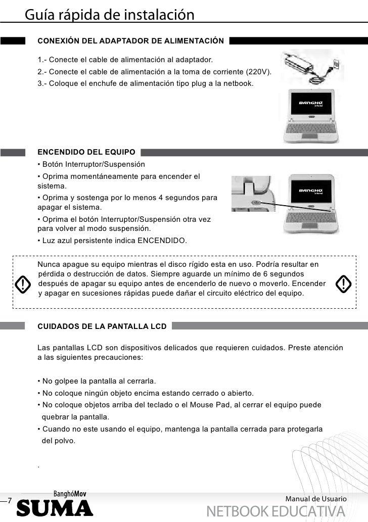 Guía rápida de instalación     CONEXIÓN DEL ADAPTADOR DE ALIMENTACIÓN     1.- Conecte el cable de alimentación al adaptado...