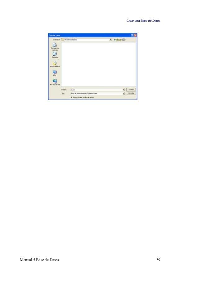 Manual base de datos