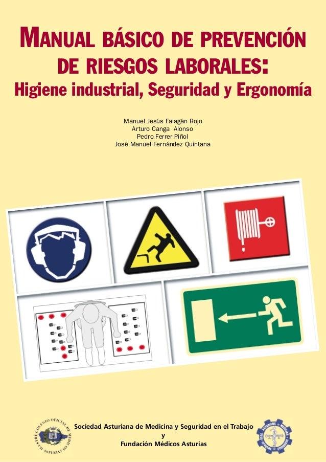 MANUAL BÁSICO DE PREVENCIÓN   DE RIESGOS LABORALES:Higiene industrial, Seguridad y Ergonomía                       Manuel ...