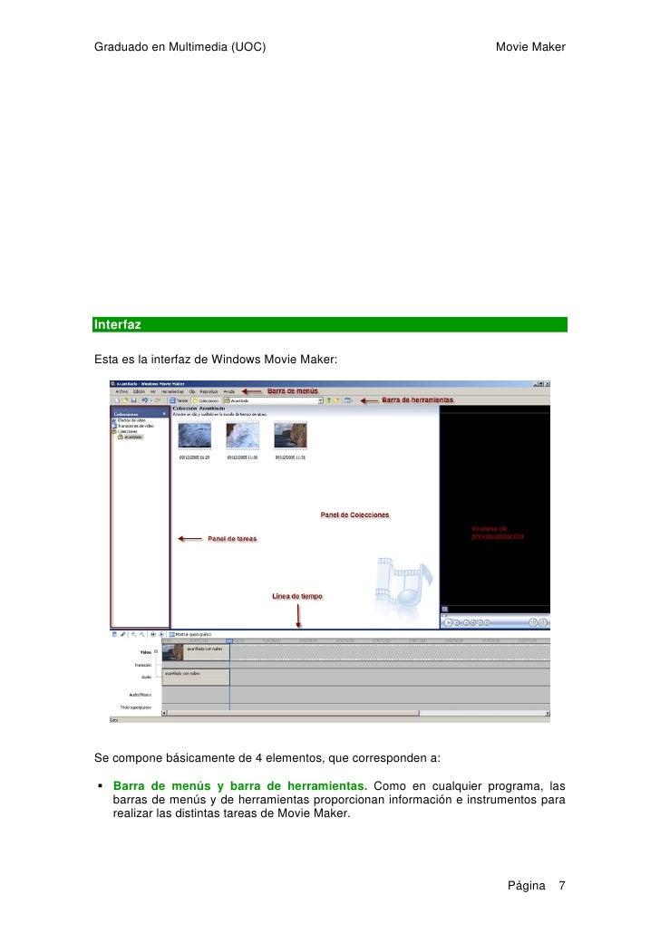 Graduado en Multimedia (UOC)                                              Movie Maker      Panel de tareas/colecciones. Ad...