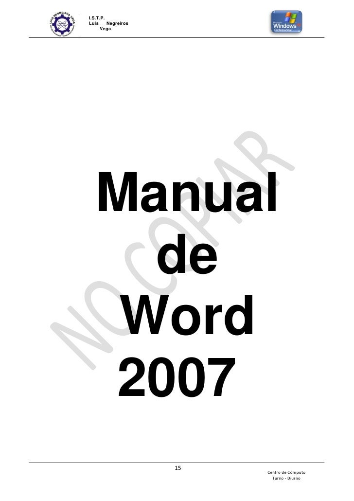 Manual basico de word y windows xp