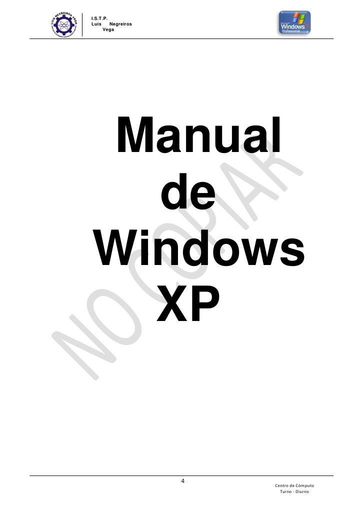Manual basico de word y windows xp