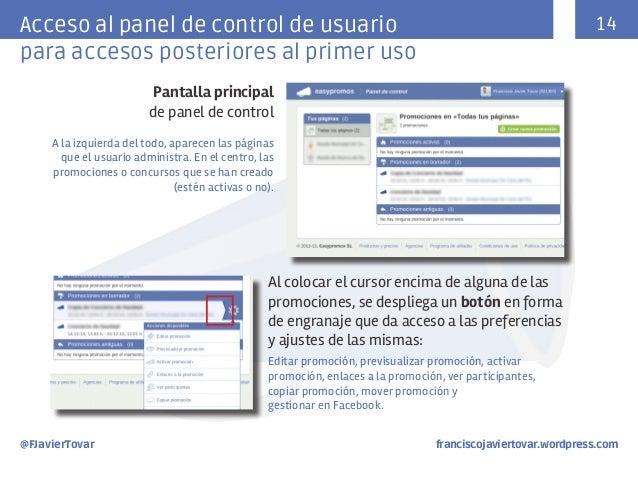 14  Acceso al panel de control de usuario para accesos posteriores al primer uso Pantalla principal de panel de control A ...