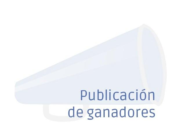Publicación de ganadores