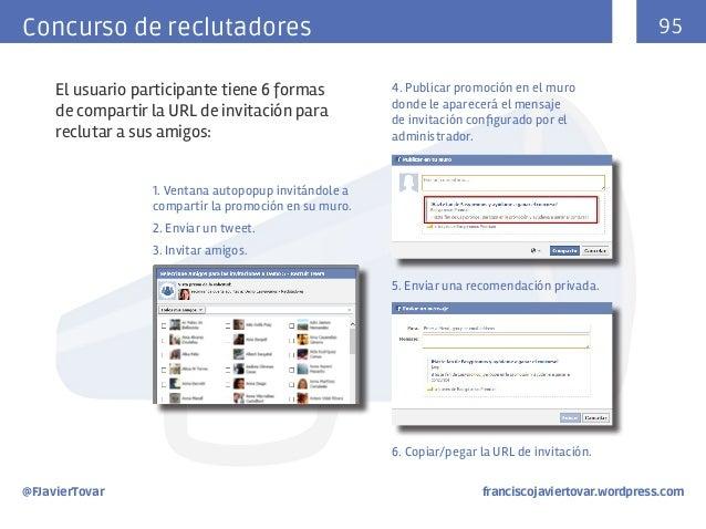 95  Concurso de reclutadores El usuario participante tiene 6 formas de compartir la URL de invitación para reclutar a sus ...