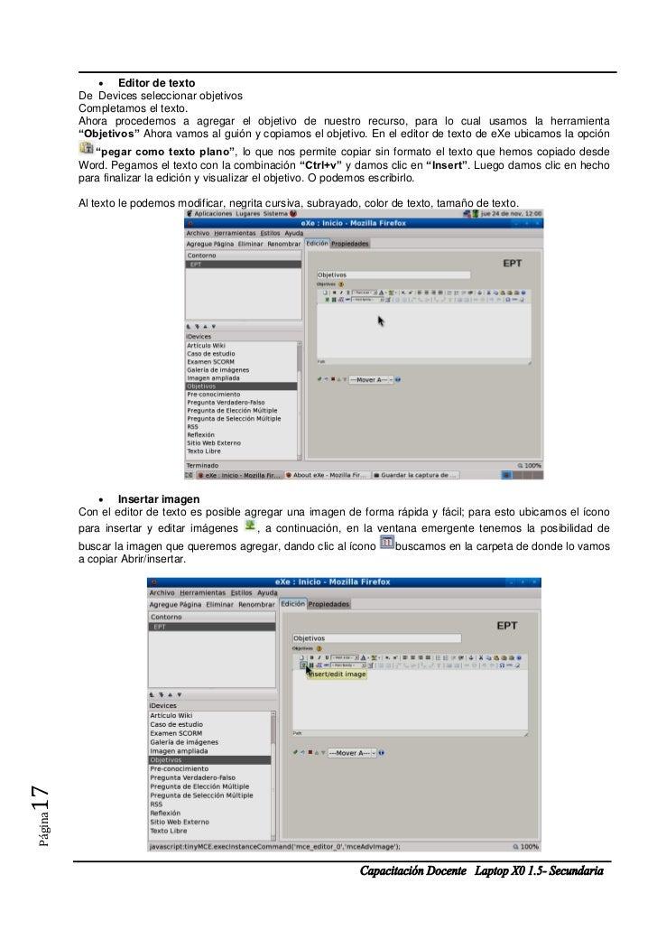  Editor de texto         De Devices seleccionar objetivos         Completamos el texto.         Ahora procedemos a agrega...