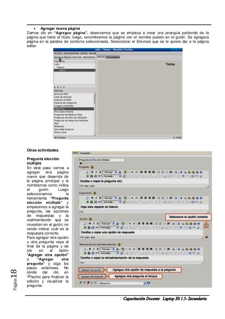 """ Agregar nueva página         Damos clic en """"Agregue página"""", observamos que se empieza a crear una jerarquía partiendo d..."""