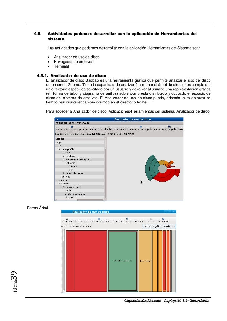 4.5.    Actividades podemos desarrollar con la aplicación de Herramientas del                    sistema                  ...