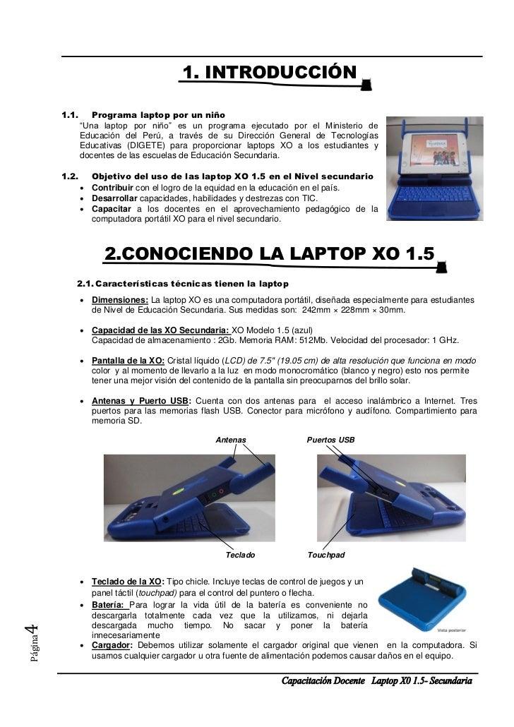 """1. INTRODUCCIÓN         1.1.      Programa laptop por un niño                """"Una laptop por niño"""" es un programa ejecutad..."""
