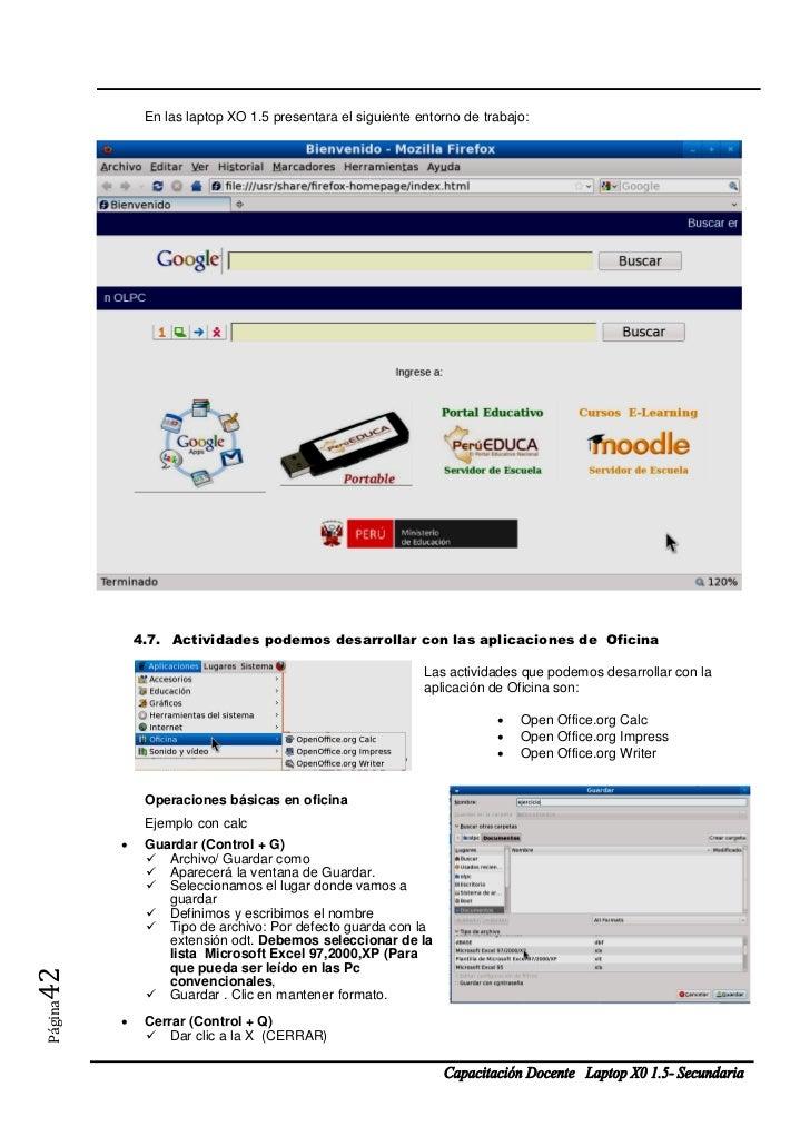 En las laptop XO 1.5 presentara el siguiente entorno de trabajo:             4.7. Actividades podemos desarrollar con las ...
