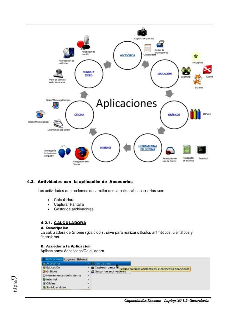 4.2. Actividades con la aplicación de Accesorios             Las actividades que podemos desarrollar con la aplicación acc...
