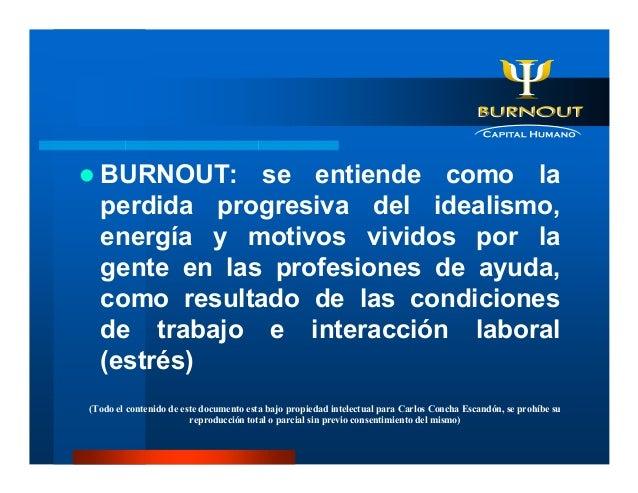 Sindrome de Burnout - Manual Basico Slide 2