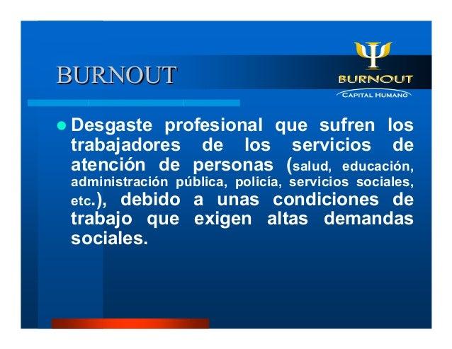 Sindrome de Burnout - Manual Basico Slide 3