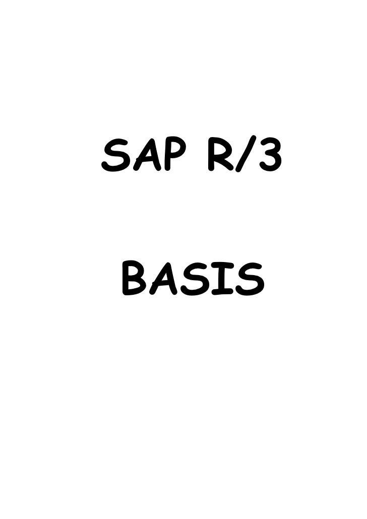 SAP R/3BASIS