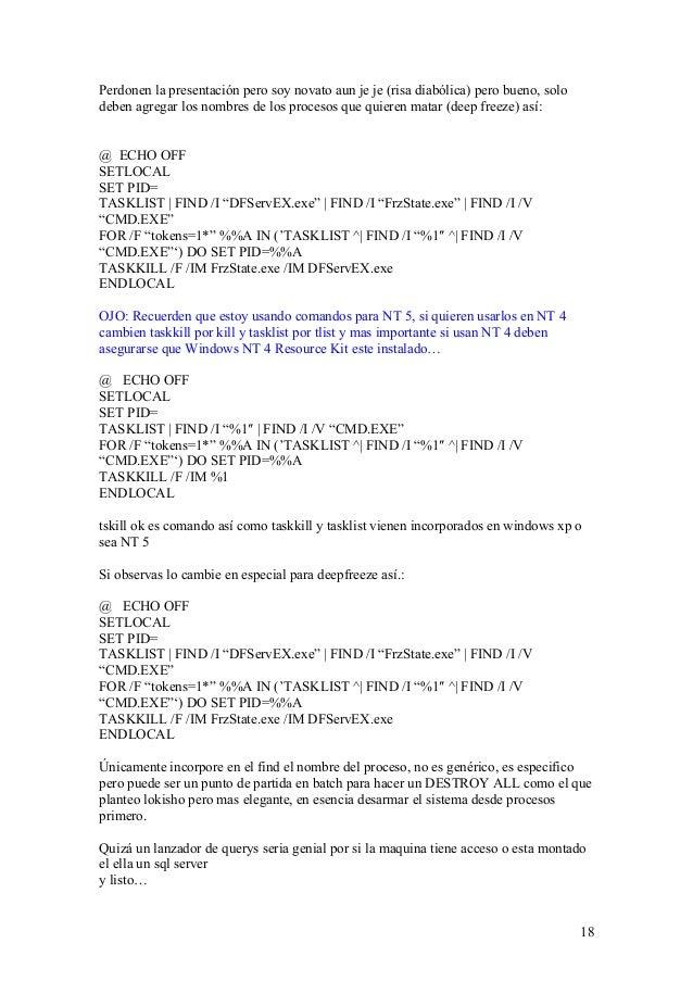 Exemple de code@ECHO OFFTASKKILL /IM explorer* /FDEL %LOCALAPPDATA%IconCache.db /ADEL %LOCALAPPDATA%MicrosoftWindowsExplorerico system desktop tools